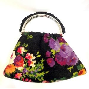 AUTHENTIC Moschino floral wool purse